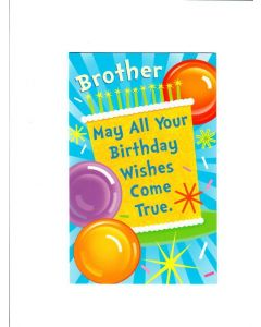 Brother may all your birthday wishes come true Card