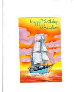 Happy Birthday Grand Son Card - Deep sea