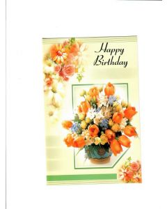 Happy Birthday Card - Flower Pot