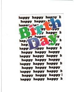 Happy Birthday Card - Happiness Overloaded