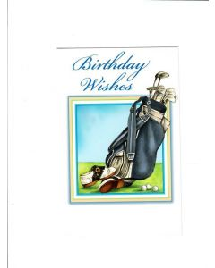 Birthday Wishes Card - Golf Pad
