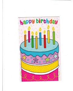 Happy Birthday card - Birthday Cake With Candles