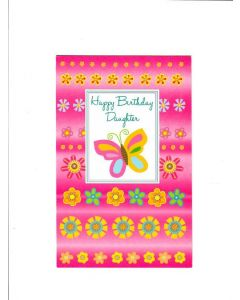Happy Birthday Daughter Card - Sweet Pink