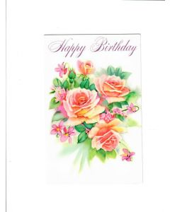 Happy Birthday Card - Warm Wishes with Flowers | London Greetings