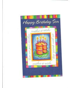 Happy Birthday Son Card - Make A Wish