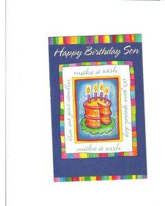 Happy Birthday Son Card - Make A Wish