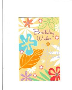 Birthday wishes Card - Flowers