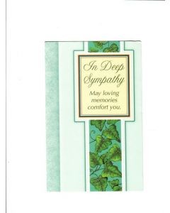 in deep sympathy may loving memories comfort you Card