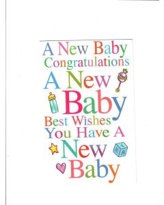 A new congratulation a new baby best wishes you have a new baby Card