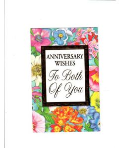 Anniversary wishes to both of you Card