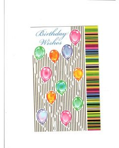 Birthday Wishes Card - Balloons