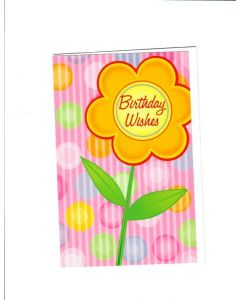 Birthday Wishes Card - Beautiful Sunflower