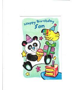 Happy Birthday Son Card - Panda