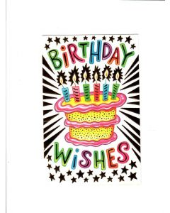 Bithday Wishes Card - Cake with Candles