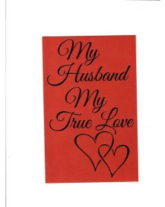 my husband my true love Card