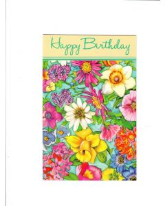 Happy Birthday Card - Beautiful Flowers
