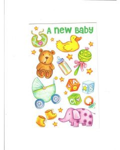 A New Baby Card - Blessings