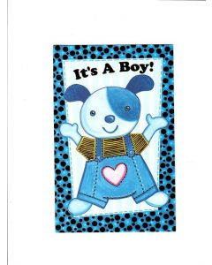 Its A Boy Card - Blue Panda