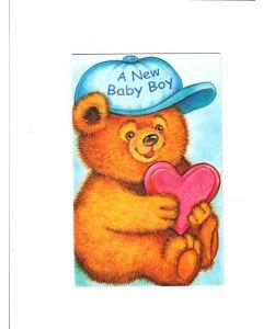 A new baby boy Card