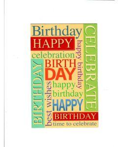 Happy birthday happy celebration Card