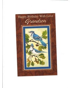 Happy birthday with love grandson Card - With Love