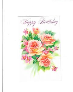 Happy Birhday Card - With Flowers