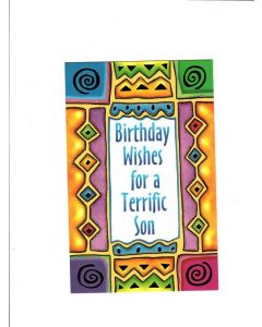 Birthday wishes for a terrific son Card