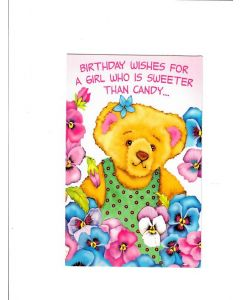 Birthday wishes for a girl who is sweeter than candy Card