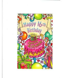 Happy 16th bdy Card