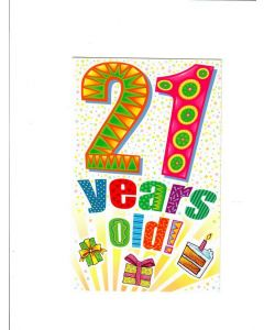 21 years old Card