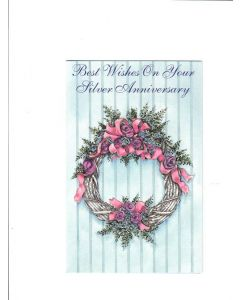 best wishes on your silver anniversary Card