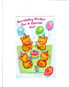 birthday wishes for a special girl Card