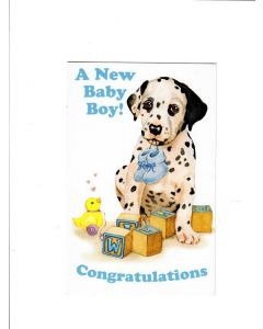 A New Baby Boy Card - Congratulations