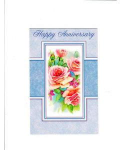 Happy Anniversary Card - With Roses
