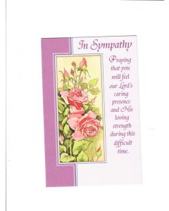 In Sympathy Card - Stay Strong