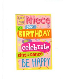 birthday so celebrate sing & dance be happy Card