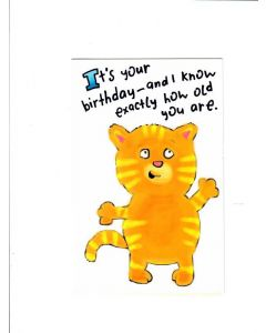 its your birthday and I know exactly how old you are Card