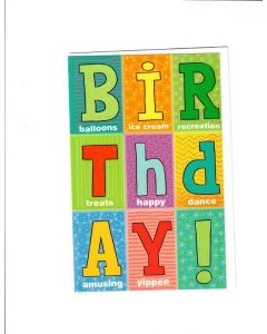 Happy Birthday Card - Icecream, Treats and Dance