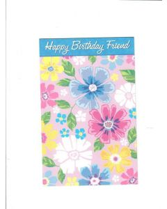 Happy Birthday Friend Card - Classy Blue
