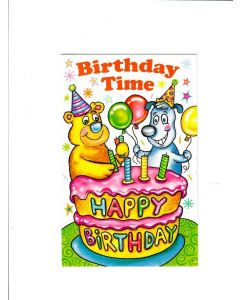 Birthday Time Card - Happy Birthday