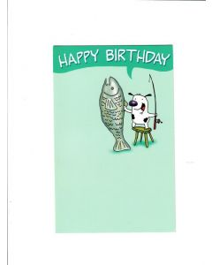 Happy Birthday Card - FisH in the Pond