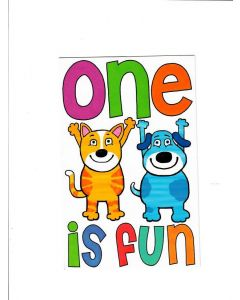 One is Fun Card - You Are Now One