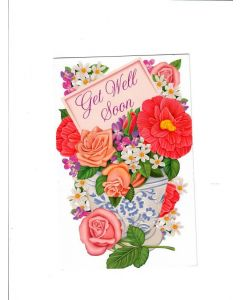 Get Well Soon Card - Flower Bouquet