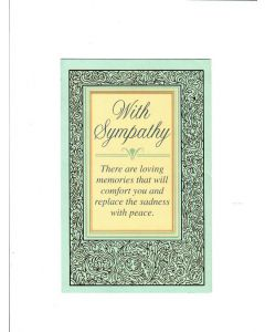 With Sympathy Card - There Are Loving Memories