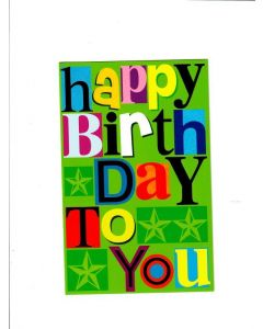 happy birthday to you Card - Stay Blessed