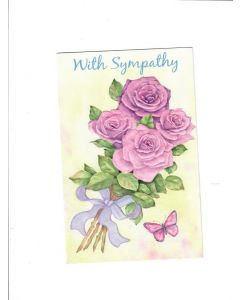 With Sympathy Card - Purple Flower