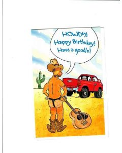 HOWDY HAPPY BIRTHDAY Card