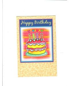 Happy Birthday Card - With Warm Wishes