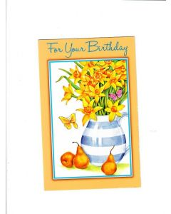 For Your Birthday Card - Flower Pot