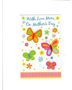 with love mom on mothers day Card